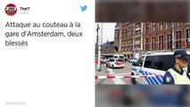 Pays-Bas. Attaque au couteau en gare d'Amsterdam : trois blessés, dont l'assaillant.