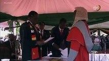 Emmerson Dambudzo Mnangagwa is now officially president of Zimbabwe after taking the oath of office Sunday, at his inauguration.  Mnangagwa's inauguration comes