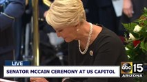 Cindy McCain at US Capitol ceremony
