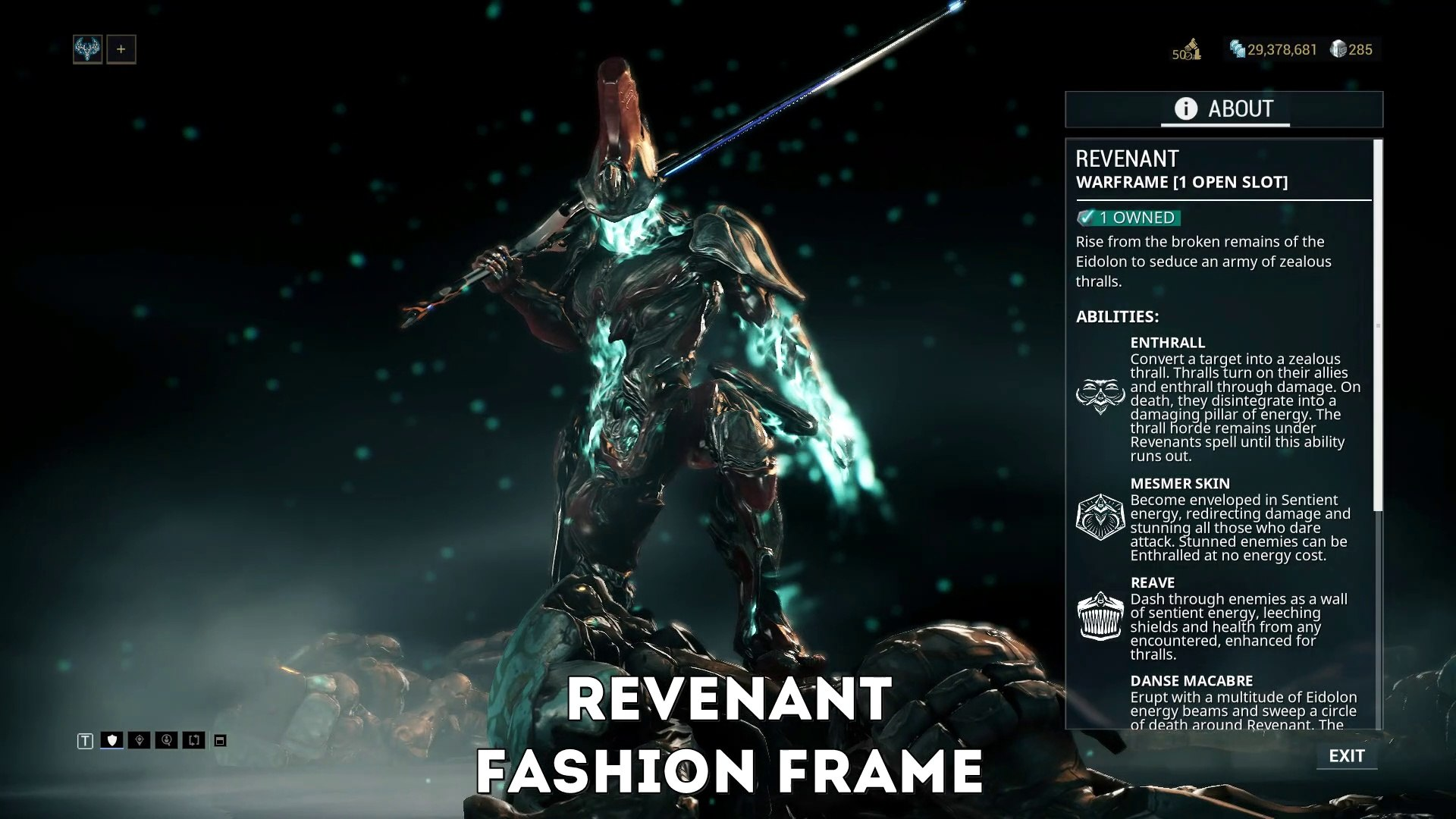 Warframe Revenant Fashion Frame The True End Game Video Dailymotion Digital extremes have released the new revenant warframe into the game. warframe revenant fashion frame the true end game