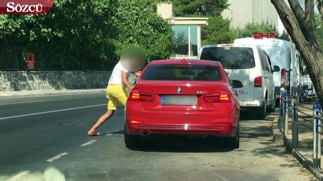 Tartıştığı eşi otomobilin kapılarını kilitleyip gaza bastı! Az daha canından oluyordu