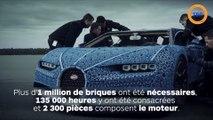 Une Bugatti Chiron reproduite en LEGO à taille réelle et qui roule !