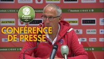 Conférence de presse Valenciennes FC - Clermont Foot (0-4) : Réginald RAY (VAFC) - Pascal GASTIEN (CF63) - 2018/2019