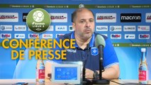 Conférence de presse AJ Auxerre - Stade Brestois 29 (0-2) : Pablo  CORREA (AJA) - Jean-Marc FURLAN (BREST) - 2018/2019