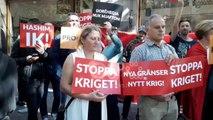 """Ora News - """"Jo ndarje të Kosovës"""", """"Hashim ik"""", shqiptarët protestë në Suedi kundër Thaçit"""