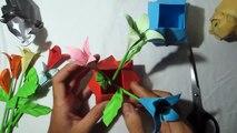 DIY pots   how to make a origami pots flower tutorial   comment faire un tutoriel de fleurs en pots d'origami