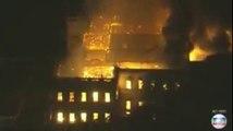 Le musée de Rio de Janeiro ravagé par les  flammes