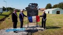 A l'inauguration de la stèle Cité des cheminots à Cappelle la Grande