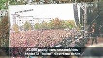 """Allemagne: un concert contre """"la haine"""" de l'extrême droite"""