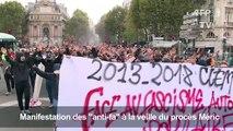 """Manifestation des """"anti-fa"""" à la veille du procès Méric"""