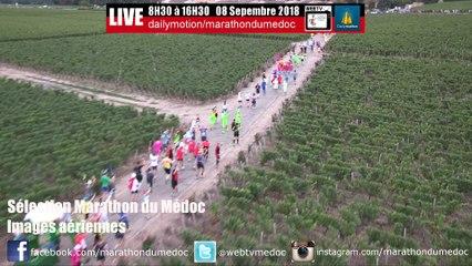 Images aériennes du parcours Marathon du Médoc