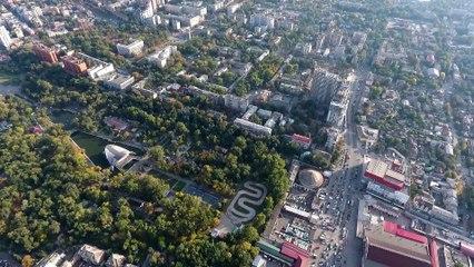 Центральный район (бывший Кировский район), Днепр. Как выглядит Центральный район  с высоты