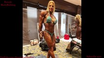 IFBB Dana Shemesh - Pumping Muscles and Flexing her Ripped Abs.