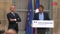 Dernier discours de Nicolas Hulot au ministère de l'Écologie