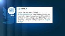 """Libia, l'Onu annuncia: """"Accordo per il cessate-il-fuoco a Tripoli"""""""