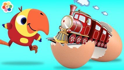 Toy Train Surprise Eggs for Kids | Educational Videos for Children by BabyFirst