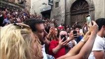 Salvini accolto da una folla adorante alla festa di Santa Rosa di Viterbo