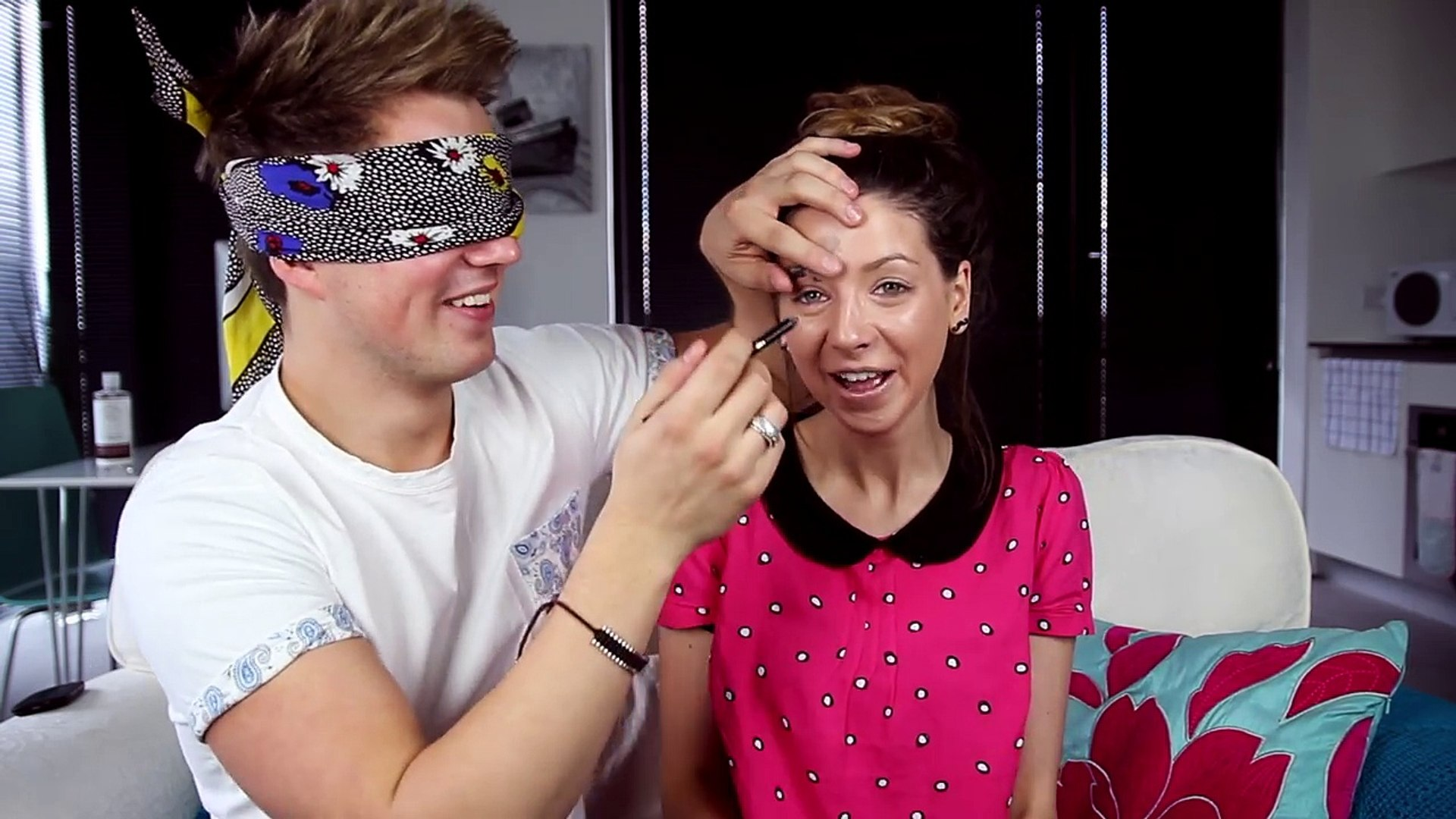 Blindfolded Makeup Challenge with Marcus Butler