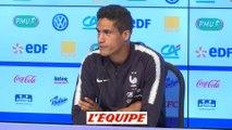 Varane «Le Ballon d'Or n'est pas un objectif en soi» - Foot - Ligue des nations - Bleus