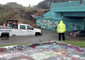 Car Gets Stuck in Floodwaters Under Pensacola's 'Graffiti Bridge'