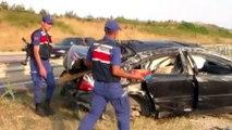 Takla atan otomobildeki 4 kişi yaralandı - BOLU