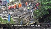 Inde : effondrement d'un pont, les secouristes sur place