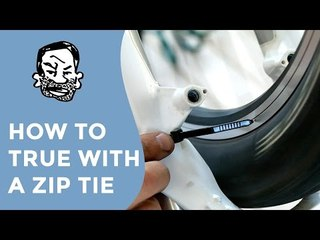 How to true wheels without a stand (zip tie hack)