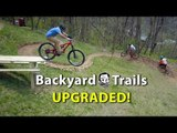"Backyard MTB Trails with ""Sicknic Table"" - Berm Creek Upgrades"
