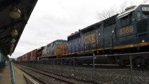 CSX Train comes to a stop near Destiny USA Mall