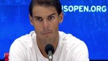 """US Open 2018 - Rafael Nadal : """"Heureux d'être en demie, avec 2 jours de repos, ça donne une bonne chance d'y être à 100% contre Del Potro"""""""