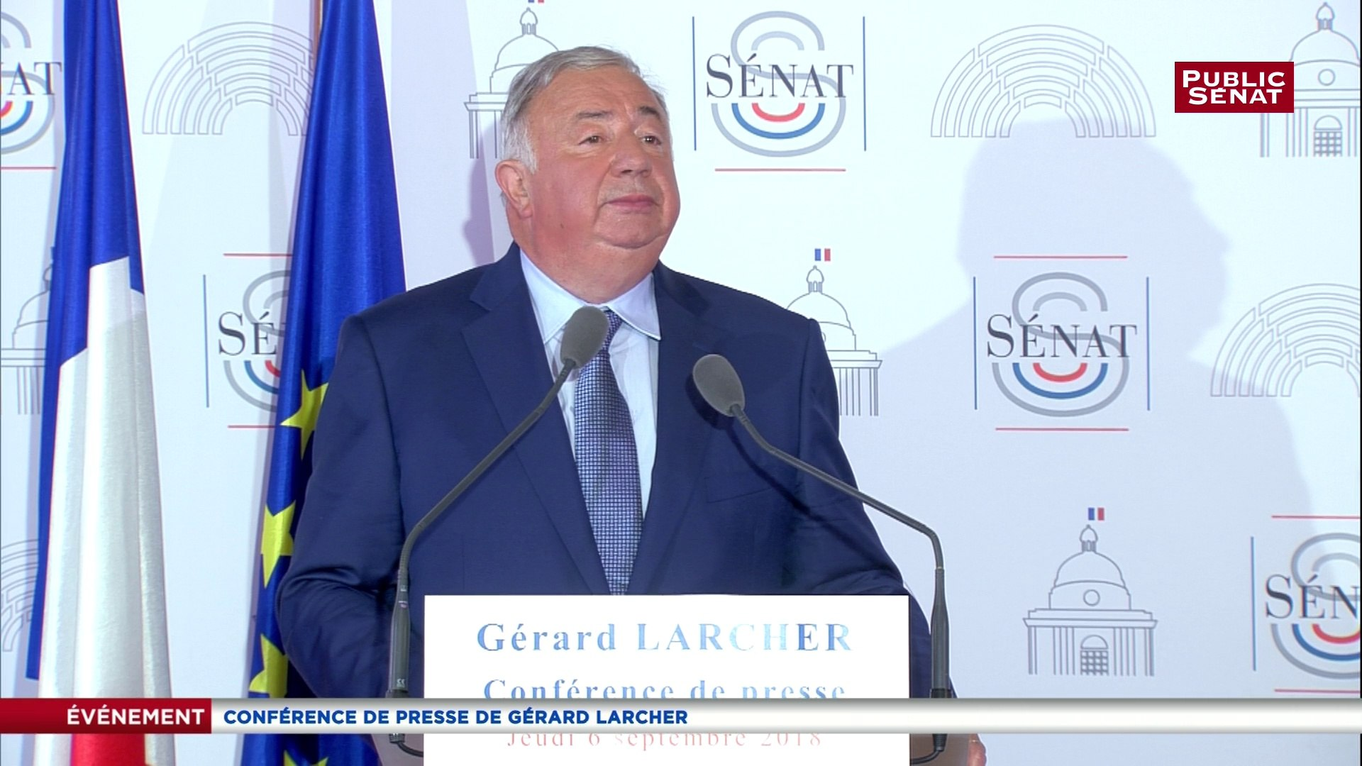 La crise migratoire « peut amener l'Europe à sa déconstruction », avertit Larcher