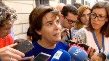 """Soraya Sáenz de Santamaría deja su futuro abierto: """"Primero voy a hablar con Pablo"""""""