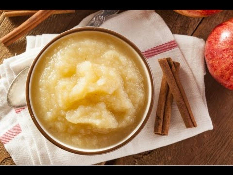 Puré de Manzana Para el Pavo   Fácil receta clásica de puré de manzana con 4 ingredientes