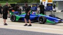 Fernando Alonso prueba un coche de Indycar