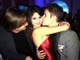 Justin Bieber kissing Selena Gomez at his 18th Birthday Party