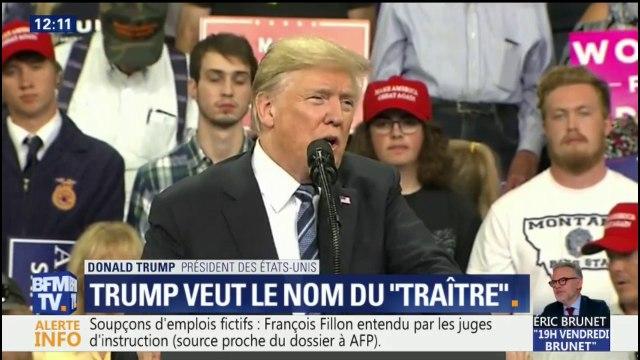 """Tribune anonyme: Donald Trump veut que le New York Times révèle le nom """"du lâche"""""""