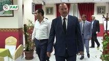 Le Ministre de la Jeunesse et des Sports Mr Mohamed Hattab rend visite aux Verts