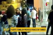 Tumbes: así se vivió el fuerte sismo de 6,4 grados en la provincia de Zarumilla