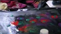 Abstract Acrylic free flow fluid pour painting speedpaint timelapse Montage