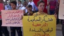 Hatay Reyhanlı'da Suriyeliler, İdlib'e Müdahaleyi Protesto Etti