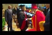 RTG/En marge de séjour en chine le président ALI BONGO á été élevé au rang de Docteur Honoris Causa