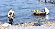 İzmir Aliağa'da Denizi Kirleten Gemiye El Konuldu