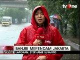 Banjir Jakarta, Jalan Depan Universitas Tarumanegara Lumpuh Total