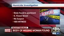 Woman missing from Scottsdale found dead in Phoenix