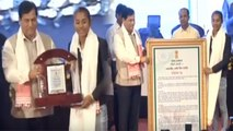 Asian Games Gold Medalist Hima Das fecilitated by Assam CM Sonowal | Oneindia News