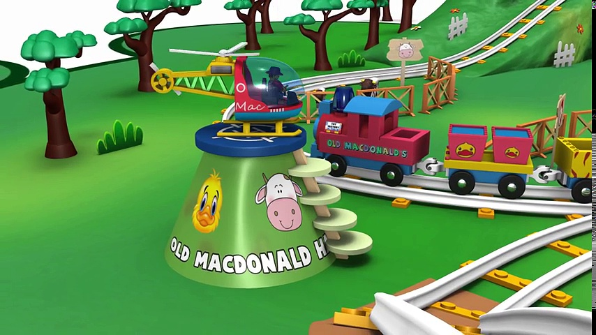 Old MacDonald Had a Farm – Choo Choo Train – Toy Factory Farm Train – Animal Train – Farm Animals