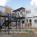 These Repurposed Shipping Containers Provide Housing For The HomelessLearn more: