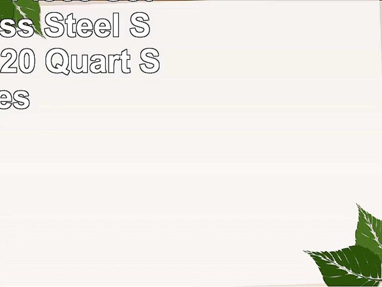 ToolUSA 4 Piece Set Of Stainless Steel Stockpots 820 Quart Sizes