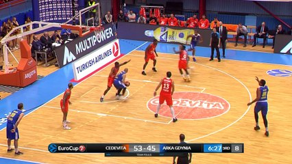 7Days EuroCup Highlights Regular Season, Round 8: Cedevita 94-87 Arka