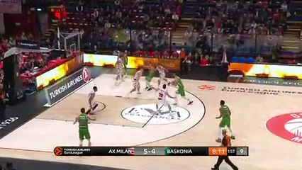 EuroLeague 2018-19 Highlights Regular Season Round 8 video: AX Milan 93-90 Baskonia